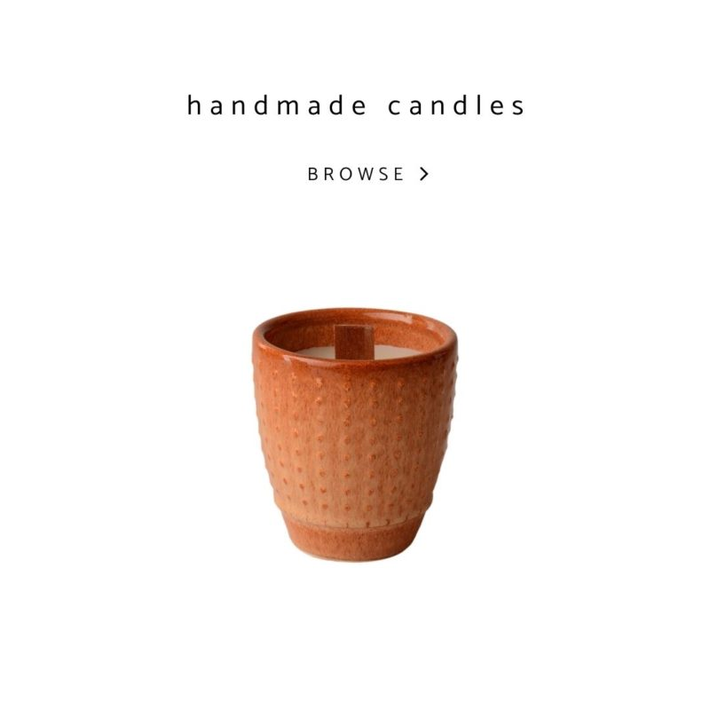 Scented ceramic and glass aroma candles, a perfect and bespoke gift.
